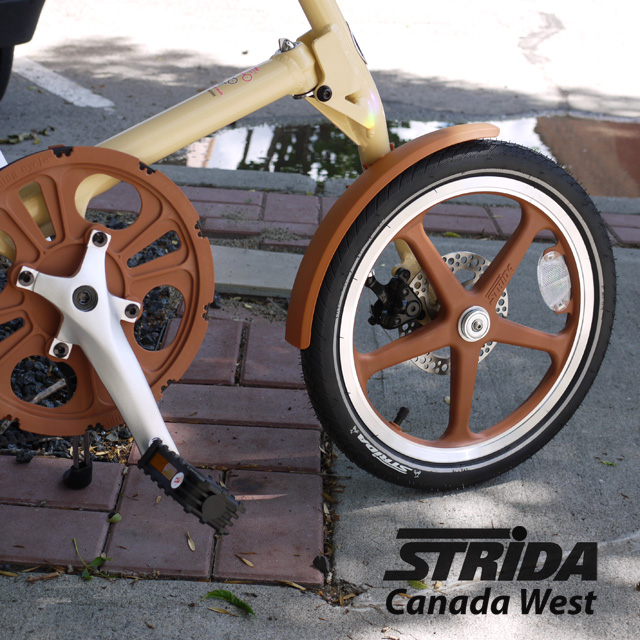 Strida LT Cream and Brown Detail