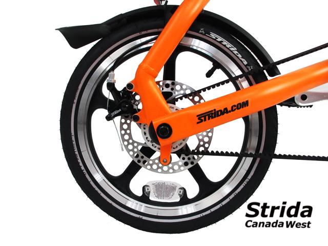 Strida LT Sunkist Orange detail