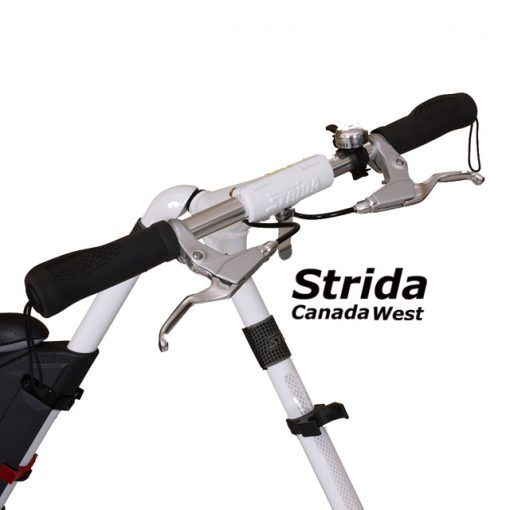 strida evo white handle bar detail