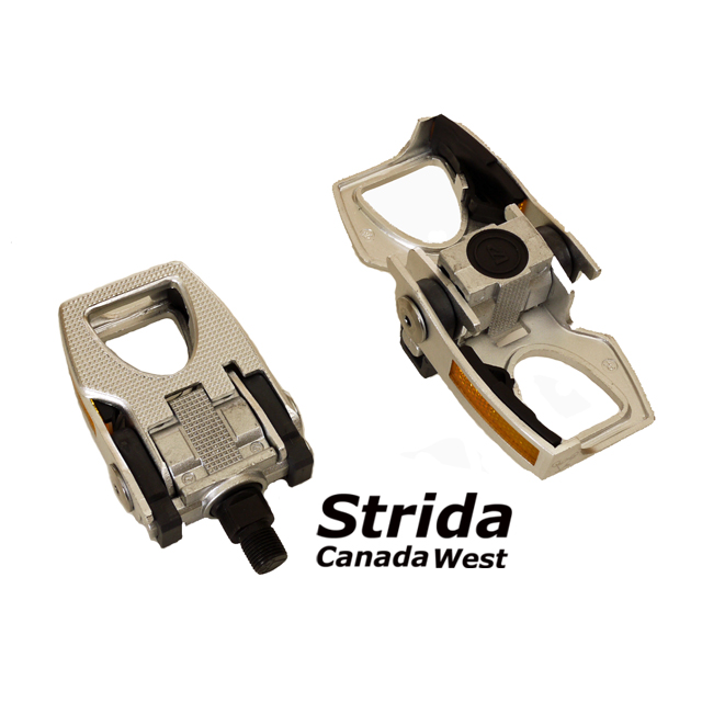 Strida alloy folding pedal silver