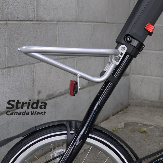 Strida EVO Dark Blue rack detail
