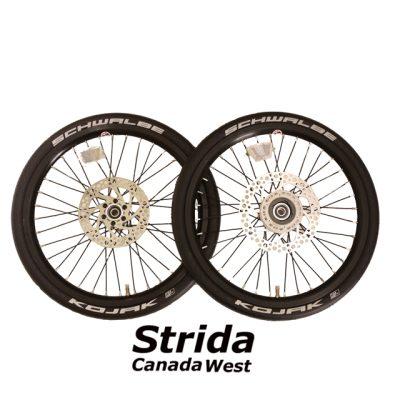 Strida Black 18 inch wheel set