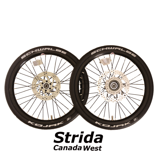 Strida Black 18 inch wheel set