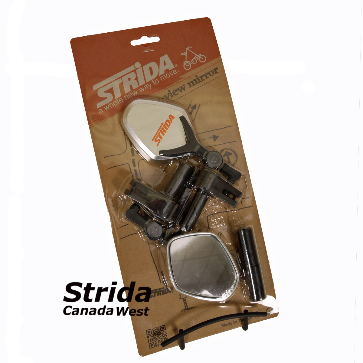 Strida rear view mirror silver