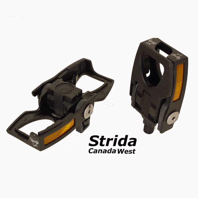 Strida black alloy folding pedals
