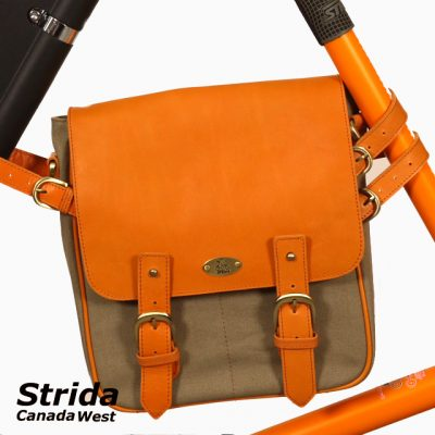 Strida frame bag orange and green