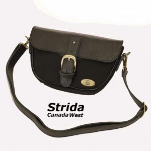 Strida leather handle bar bag
