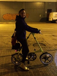 Strida out at night in Spain