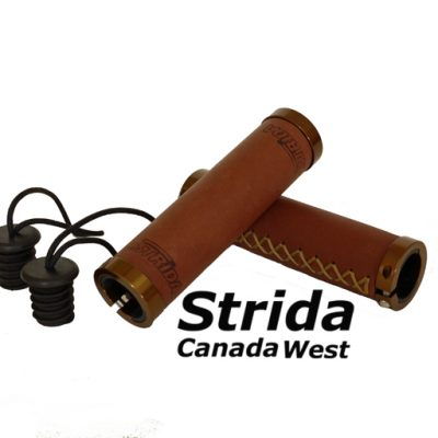 Strida Brown Leather Round grips