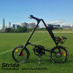 Strida Black EVO 18 inch in the park