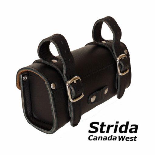 Black leather saddle bag 2
