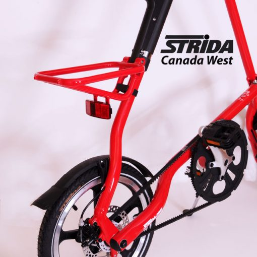 Strida Alloy Rear Rack Red Detail