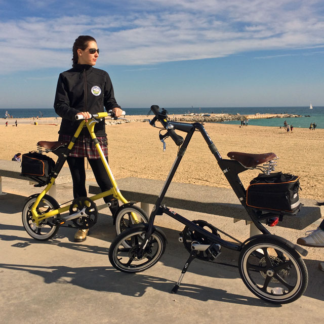 Erika and Peter's Strida Bikes in Barcelona