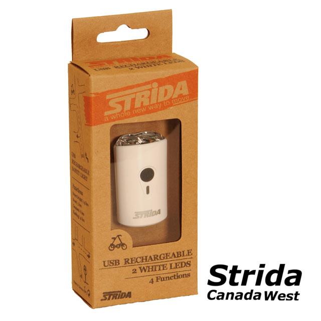 Strida Bike Head Light USB rechargeable 2 White LEDs white