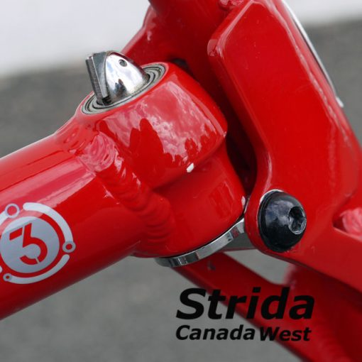 Used Strida Red EVO paint chip