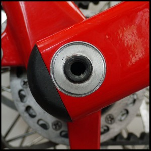 Strida Bike's Rear Hinge damage detail 1