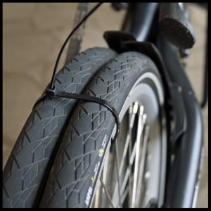 Zip tie the rear wheels