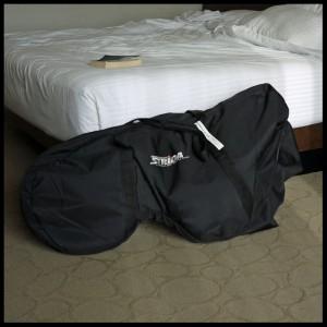 Strida in the padded bag