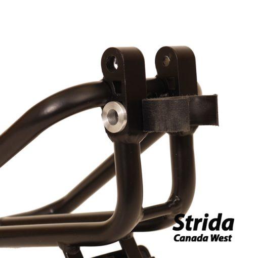 custom strida rear rack frame clip