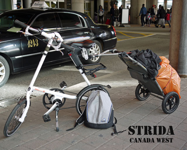 Traveling with Strida and Travoy