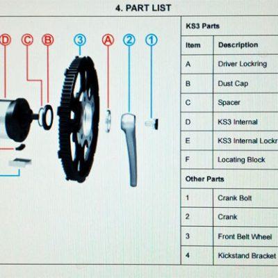 Strida KS3 gearbox