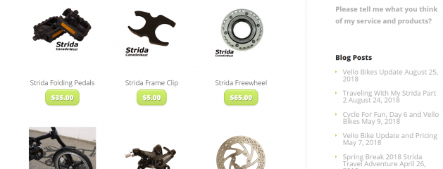 Need a Strida Part and Can't find it?